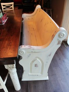 Church Pew/Bench for the patio table