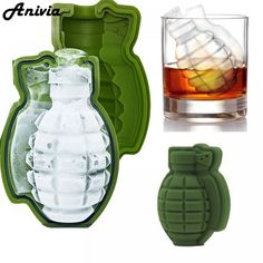 Made of food grade grenade shape ice cube mold silicone tray kitchen and bar tool.Non-stick and easy to release from the mold.Working temperature: to c package included: 1 x grenade shape silicone ice cream maker Ice Cube Molds, Ice Cube Trays, Ice Tray, Ice Cubes, Ice Pop Maker, Ice Cream Maker, Party Trays, Grenade, Chocolate Molds