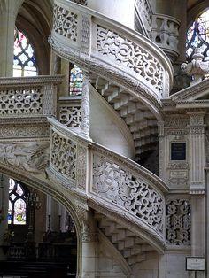 Views From Inside St-entienne-du-mont Church In Paris France