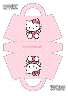 Hello Kitty Crafts, Hello Kitty Themes, Hello Kitty Cake, Hello Kitty Birthday, Anniversaire Hello Kitty, Paper Doll Template, Diy And Crafts, Paper Crafts, Cat Party