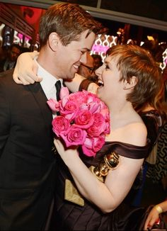 Lena Dunham and Andrew Rannells
