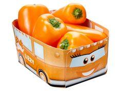 Zo krijg je de kinderen wel aan de gezonde snacks: Vitapep paprikaatjes in een grappig doosje waarmee gespeeld kan worden als het leeg is! De Harvies snackgroente zijn grappig en gezond!