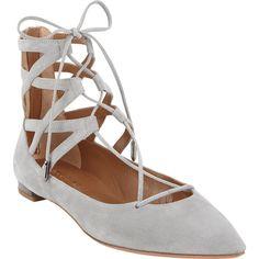 Aquazzura Women's Belgravia Flats ($259) ❤ liked on Polyvore featuring shoes, flats, aquazzura, suede flats, flat shoes, zip shoes and flat pump shoes