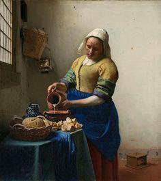 Johannes Vermeer 'De Melkmeid',  Rijksmuseum, Amsterdam, Netherlands
