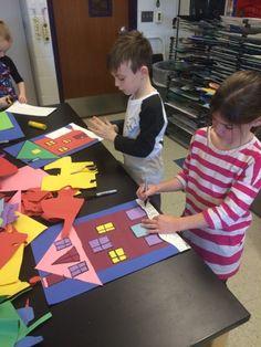 Jamestown Elementary Art Blog: First grade Printmaking Architecture