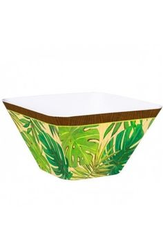 Island Palms Square Bowl - Tropical Party Decoration Ideas