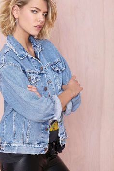 After Party Vintage Wanted Denim Jacket - Jackets | What's New | After Party | Jackets + Coats | Nasty Gal Denim | Denim | Fall Of The Wild