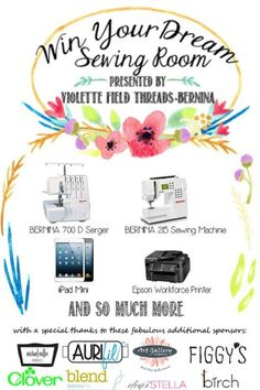 """Win Your Dream Sewing Room"" Giveaway Has Officially Begun!"