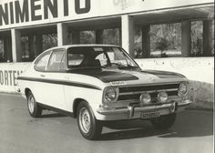 Opel Kadett LS Rallye Original 1969 Italian Roma Conrero Press Photograph