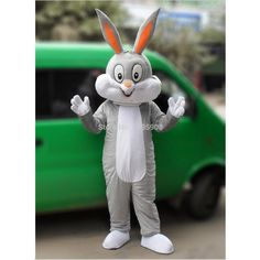 High Quality Bugs Bunny Mascot Costume Rabbit Mascot Costume Adult Party Carnival Halloween Christmas Mascot