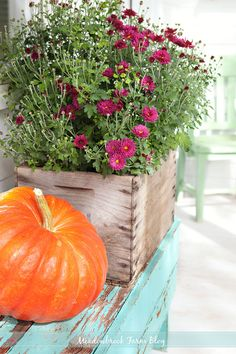 Meadowbrook Farm: fall porch decorating -