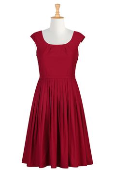 eShakti.com Sangria red Eleanor dress   MINE NOW