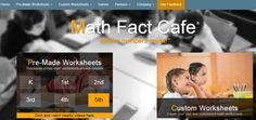 Math Fact Cafe Maths Resources, Free Math Worksheets, School Resources, K 1, Online Sites, Math Facts, Numeracy, School Days, Education