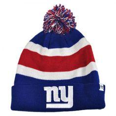 New York Giants NFL Breakaway Knit Beanie Cap available at  VillageHatShop  Football Caps f5b82d32047