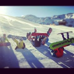 Snowboard in Valle Nevado, Chile