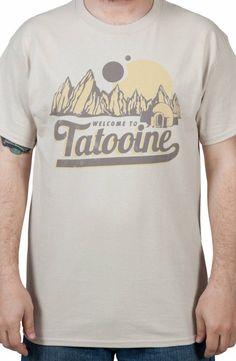 Sand Welcome To Tatooine Shirt: Star Wars Mens T-shirt