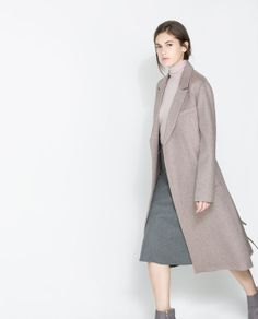 ZARA - WOMAN - COAT WITH LAPELS AND BELT <3