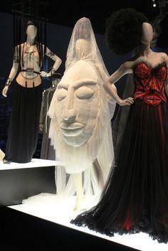Sidewalk to Catwalk Exhibition Melbourne, Australia 2014-2015.. Middle dress is another wedding dress.