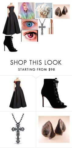 """""""Lizzie's Ball"""" by lizzie12304 on Polyvore featuring Zac Posen, Gianvito Rossi, Toni&Guy, Victoria Kay, Maison Kitsuné and Estée Lauder"""