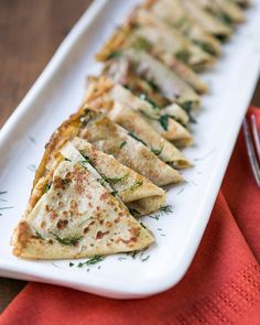 in-my-mouth:  Grilled Cheese Crepes with Chard and Dill