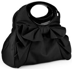 Adorable black ruffle bow purse