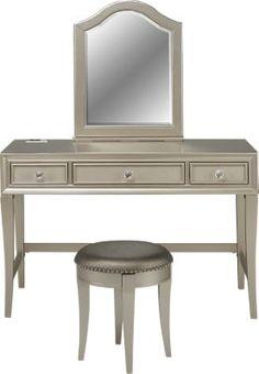 sofia vergara petit paris champagne vanity mirror and stool vanity - Sofia Vergara Furniture