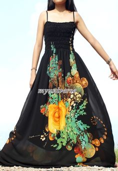 55.00 Black Maxi Dress Wedding Gown Bridesmaid Dress Prom by myuniverse