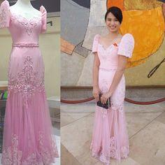 Haute Lifestyle Manila @sheiralyn | Websta (Webstagram) Modern Filipiniana Dress, Filipino Wedding, Barong, Filipina, Manila, Beautiful Gowns, Traditional Dresses, Evening Gowns, Wedding Gowns