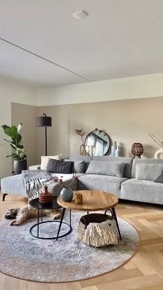 Living Room On A Budget, Living Room Grey, Small Living Rooms, Rugs In Living Room, Living Room Apartment, Neutral Living Room Sofas, Copper Living Room Decor, Living Room Decor With Grey Couch, Living Room Decorations