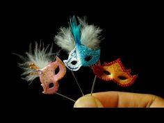 Miniature Masquerade Mask polymer clay tutorial