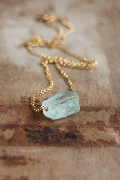 Abiza Jewelry raw aquamarine necklace