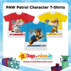 Calling all PAW Patrol fans! Check out these pup-tastic character t-shirts!