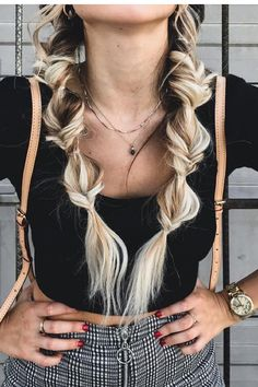 32 Unique Braided Hairstyles For Women To Make You Stand Out – – Pigtail Hairstyles Box Braids Hairstyles, Unique Braided Hairstyles, My Hairstyle, Unique Braids, Hairdos, Hairstyle Ideas, Pretty Hairstyles, Updos, Pigtail Braids