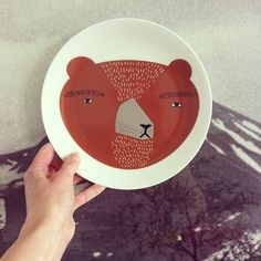 Our Bear plate shot by @shop_makeroom http://www.donnawilson.com/product/ceramic-tableware/bear-plate