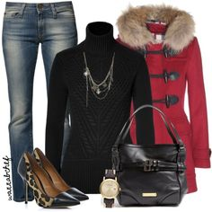 A fashion look from December 2013 featuring Burberry sweaters, Burberry coats and Miss Sixty jeans. Browse and shop related looks.