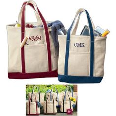"""SanMar (R) - RH35       Red House (TM) - 14"""" x 16.5"""" x 9.5"""" - Heavyweight canvas tote bag, blank.    14"""" x 16.5"""" x 9.5"""" - Heavyweight canvas tote bag. In classic cotton canvas, this sturdy tote has a refined style and is ready for a monogram. Contrast handles and trim, internal accessory pockets and key fob, exterior pocket. Stand upright with a flat bottom. Made of strong 24-ounce, 100% cotton canvas. Blank product only. Free Throw, Canvas Tote Bags, Get Dressed, Cotton Canvas, Gym Bag, Monogram, Classic, Monkey, Contrast"""