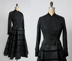 Taffeta & Velvet 2pc . 1940s Two Piece Set Vintage Formal Wear by VeraVague on Etsy https://www.etsy.com/listing/261108098/taffeta-velvet-2pc-1940s-two-piece-set