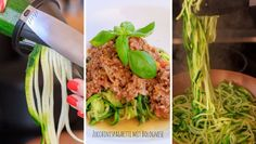 Leckere Zucchinispaghetti mit Bolognese Soße   woont - love your home