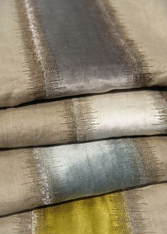 New from Larsen - Velvet stripe would look great on a pillow!