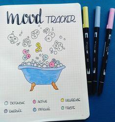 Mood tracker de février 2018 dans mon bullet journal