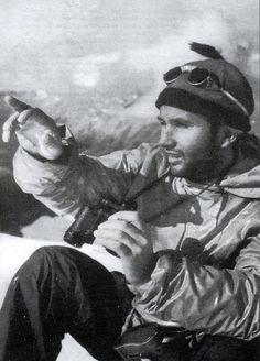 Lionel Terray (1921–1965). French climber who made first ascents to Makalu, and Cerro Fitzroy. He became well known as one of the best Chamonix climbers and guides, with notorious climbs in the Alps: Walker Spur of the Jorasses, South face of the Aiguille Noire de Peuterey, North-east face of Piz Badile, and North face of the Eiger. Was a member of 1950 expedition to the Annapurna, first 8000 peak climbed. One of Terray's finest achievements was the first ascent of Jannu in Nepal in 1962.