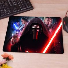 Kylo Ren Boba Fett Star wars Force Awakens Computer Mouse Pad Mousepad Decorate Your Desk Non-Skid Rubber Pad 80's hwd