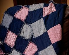 If you've never made a soft and cuddly rag quilt before, there's no better tutorial to guide you than that of the Fuss Free Rag Quilt.