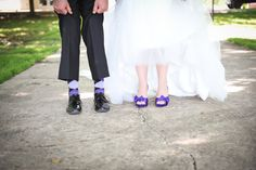 Real Wedding: Ashley and Curtis' Unique Farm Wedding - The Broke-Ass Bride: Bad-Ass Inspiration on a Broke-Ass Budget Farm Wedding, Wedding Day, Pink Purple Wedding, Wedding Shoes, Real Weddings, Groom, Wedding Inspiration, Bride, Unique