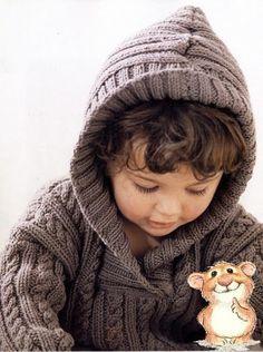 пуловер для мальчика с капюшоном