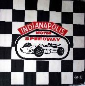 Vintage Indy 500 checkered flag from Vintage Basement - www.vintagebasement.com