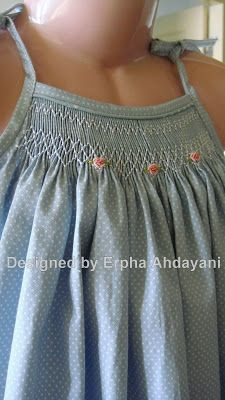 Two editions of Joyful Rush; casual, fresh and sweet sundress with simple smocking and embroidery. Suitable to be worn on hot weather, you . Smocking Baby, Smocking Plates, Smocking Patterns, Baby Clothes Patterns, Girl Dress Patterns, Clothing Patterns, Skirt Patterns, Coat Patterns, Sewing Patterns