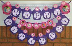 Doc McStuffins Happy Birthday Party Banner Sign Decoration Hallie Lambie Stuffy | eBay