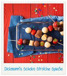 Dickmann's Schoko Strolche Spieße-Die leckeren, fruchtigen Spieße sind in Windeseile zubereitet und genauso schnell im Mund verschwunden.
