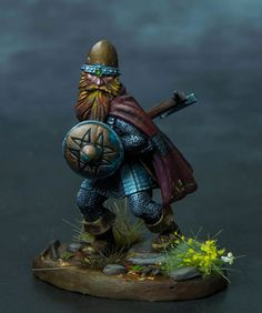 Dwarf Warrior with Axe - Visions in Fantasy - Miniature Lines